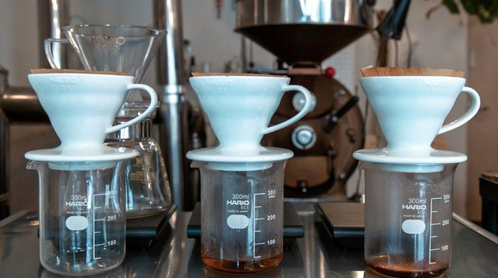 Pour over Kopi Luwak coffee
